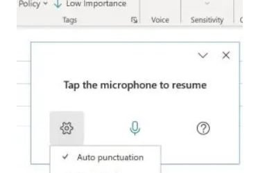 Improved Dictation Tool in Word and Outlook